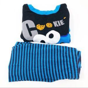 Sesame Street   100% Cotton Boys Pajama Set